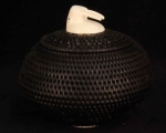 "4"" Baleen Basket with Walrus Head Finial"