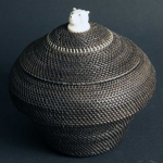 "8"" Baleen Basket with Polar Bear Head Finial"