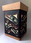 Salmon Design Bentwood Box