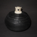 "4"" Baleen Basket with Polar Bear Finial"