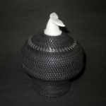 "4.5 "" Baleen Basket with Whale Tail Finial"