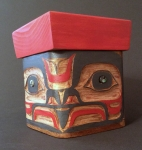 Carved Eagle Design Bentwood Box